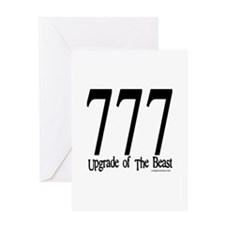 777 upgrade of beast Greeting Card