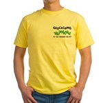 Poison Ivy Pocket Image Yellow T-Shirt