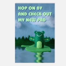 Frog with New Pad Postcards (Package of 8)