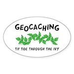 Poison Ivy Oval Sticker (10 pk)