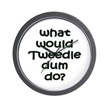 Tweedledum Wall Clock
