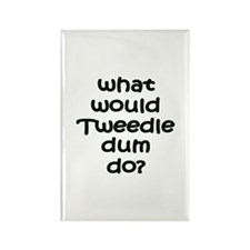 Tweedledum Rectangle Magnet