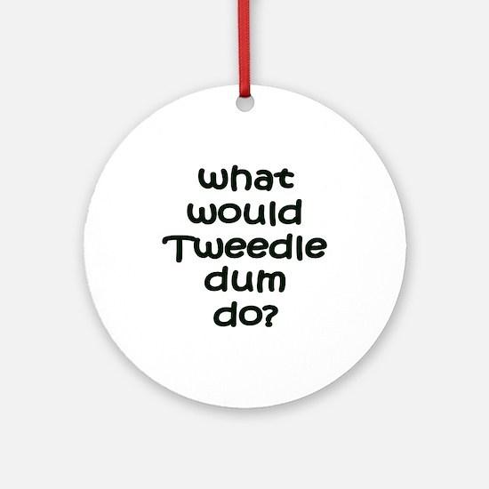 Tweedledum Ornament (Round)