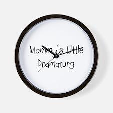 Mommy's Little Dramaturg Wall Clock