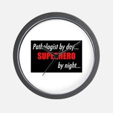 Superhero Pathologist Wall Clock