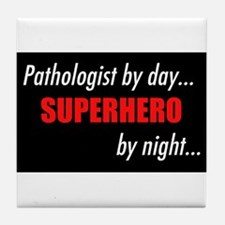 Superhero Pathologist Tile Coaster