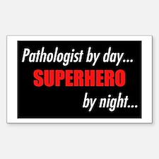 Superhero Pathologist Rectangle Decal