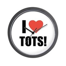 I Heart Tots Wall Clock