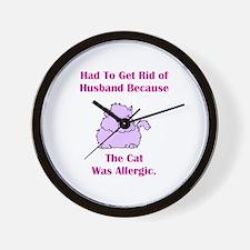 Got Rid of Husband (cat) Wall Clock
