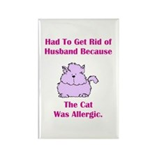 Got Rid of Husband (cat) Rectangle Magnet