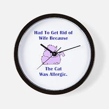 Got Rid of Wife (cat) Wall Clock