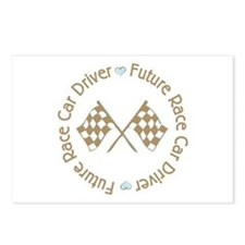 Future Race Car Driver Flag Boy Postcards (Package