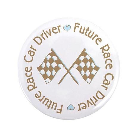"Future Race Car Driver Flag Boy 3.5"" Button"
