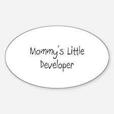 Mommy's Little Developer Oval Decal