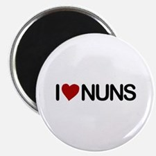 "I Love Nuns 2.25"" Magnet (10 pack)"