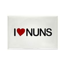 I Love Nuns Rectangle Magnet