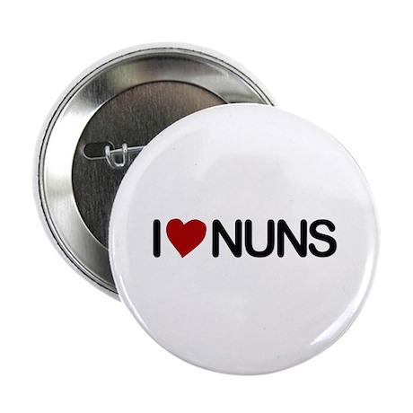 "I Love Nuns 2.25"" Button (100 pack)"