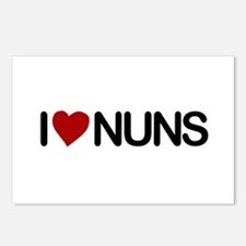 I Love Nuns Postcards (Package of 8)