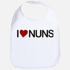 I Love Nuns Bib