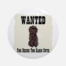 Affenpinscher Wanted Poster Ornament (Round)