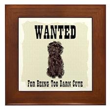 Affenpinscher Wanted Poster Framed Tile