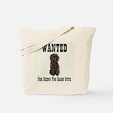 Affenpinscher Wanted Poster Tote Bag