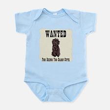 Affenpinscher Wanted Poster Infant Bodysuit