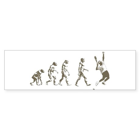 EVOLUTION OF TENNIS Bumper Sticker (10 pk)