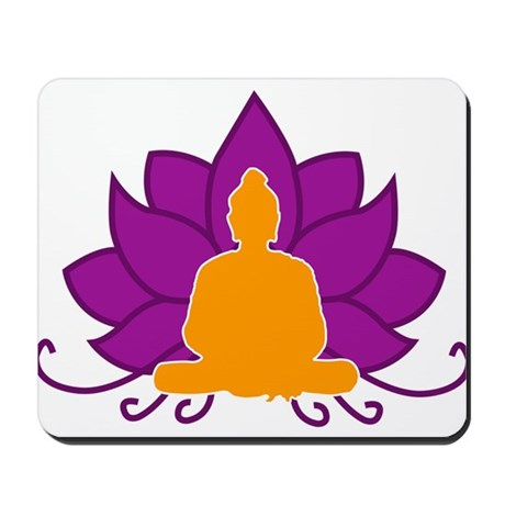 Lotus Flower & Buddha Mousepad