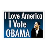 I love America, I Vote Obama Postcards