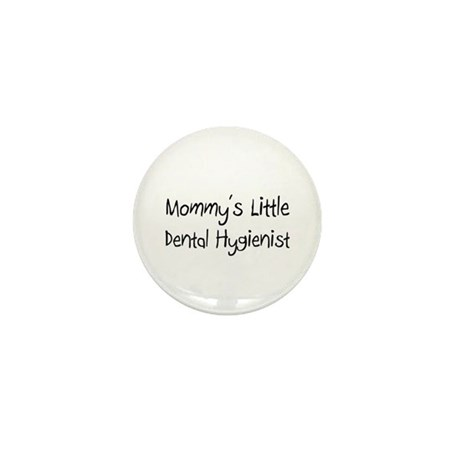 Mommy's Little Dental Hygienist Mini Button (10 pa