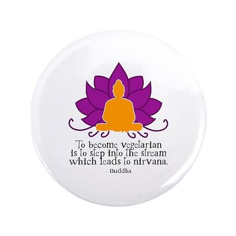 "Veggie Buddha 3.5"" Button (100 pack)"