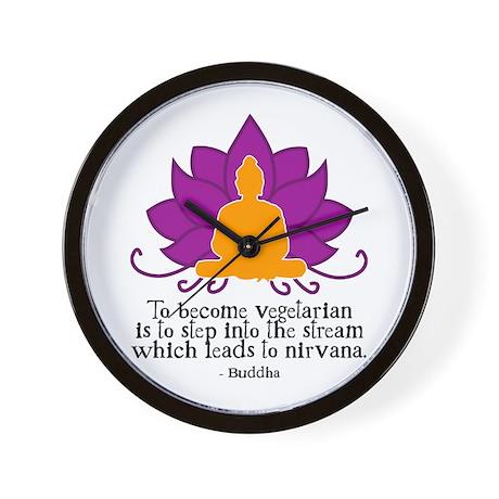 Veggie Buddha Wall Clock