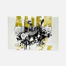 Alien Vector Design 20 Rectangle Magnet