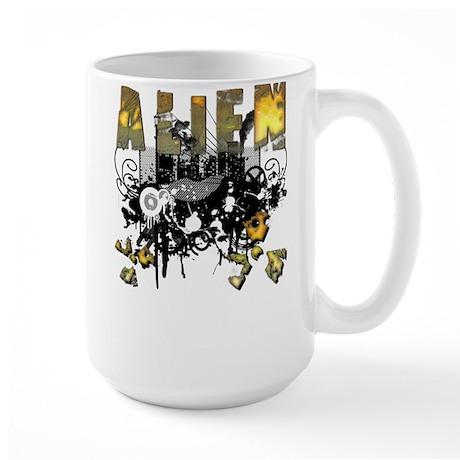 Alien Vector Design 19 Large Mug