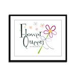 Flower Queen Framed Panel Print