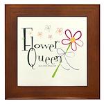 Flower Queen Framed Tile