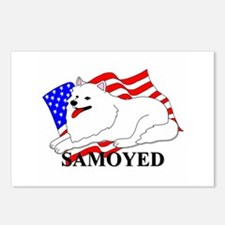 Samoyed USA Postcards (Package of 8)