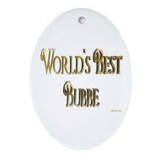 Wold's Best Bubbe Oval Ornament