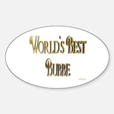 Wold's Best Bubbe Oval Decal