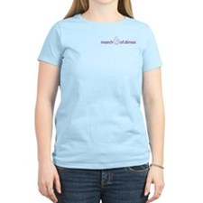 "March of Dimes ""Pocket Logo"" Women's Pink T-Shirt"