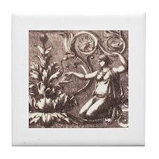 Rococo Baroque Gals Tile Coaster