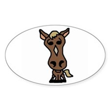 Cute Horse Oval Decal