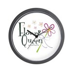 Flower Queen Wall Clock