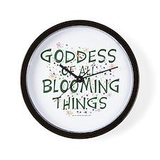 Blooming Things Goddess Wall Clock