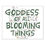 Blooming Things Goddess Small Poster