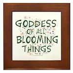 Blooming Things Goddess Framed Tile