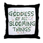 Blooming Things Goddess Throw Pillow