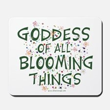 Blooming Things Goddess Mousepad
