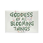 Blooming Things Goddess Rectangle Magnet (10 pack)